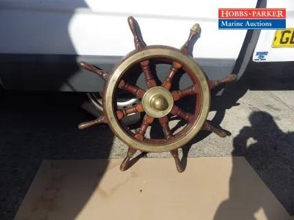 Large Oak Ship's Wheel
