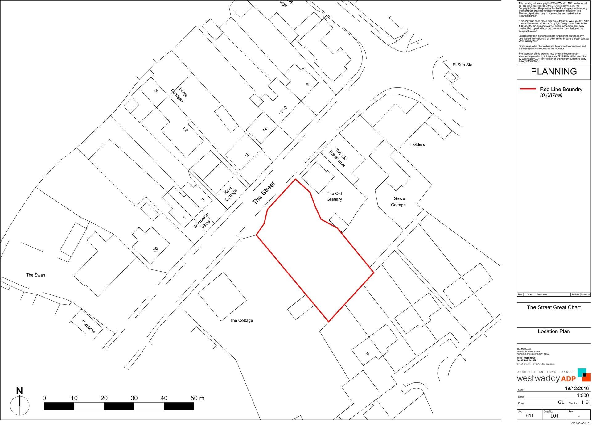 Great Chart Motors Location Plan